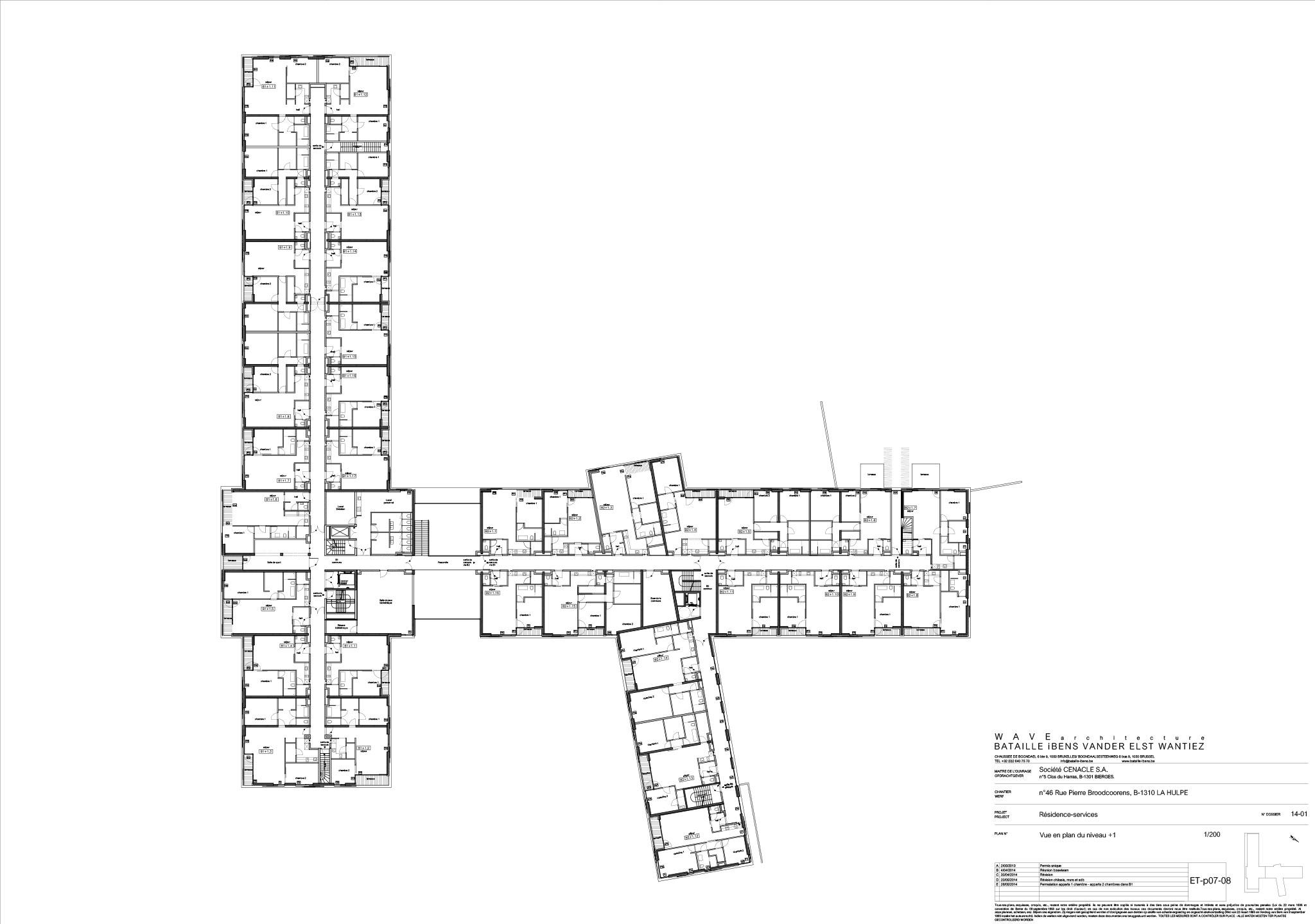 Plan batiment 1er etage le c nacle for Les plans de batiment