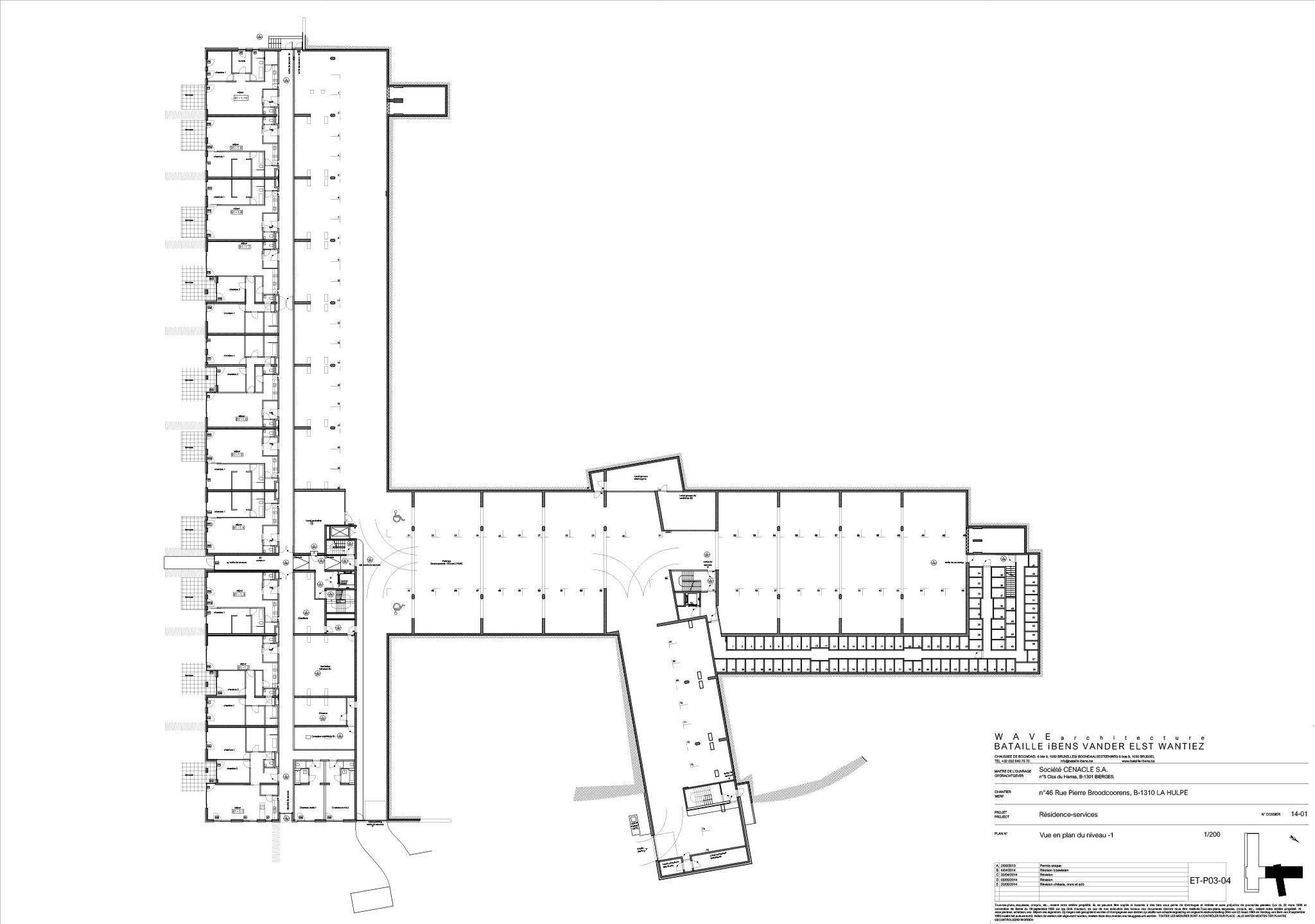 plan batiment sous-sol